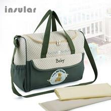 Hot Sales Cartoon Bear High Quality Baby Diaper Bags Maternity Bag Multifunctional Large Capacity Tote Messenger