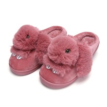 Home slippers women shoes plush rabbit cotton indoor slippers cozy war
