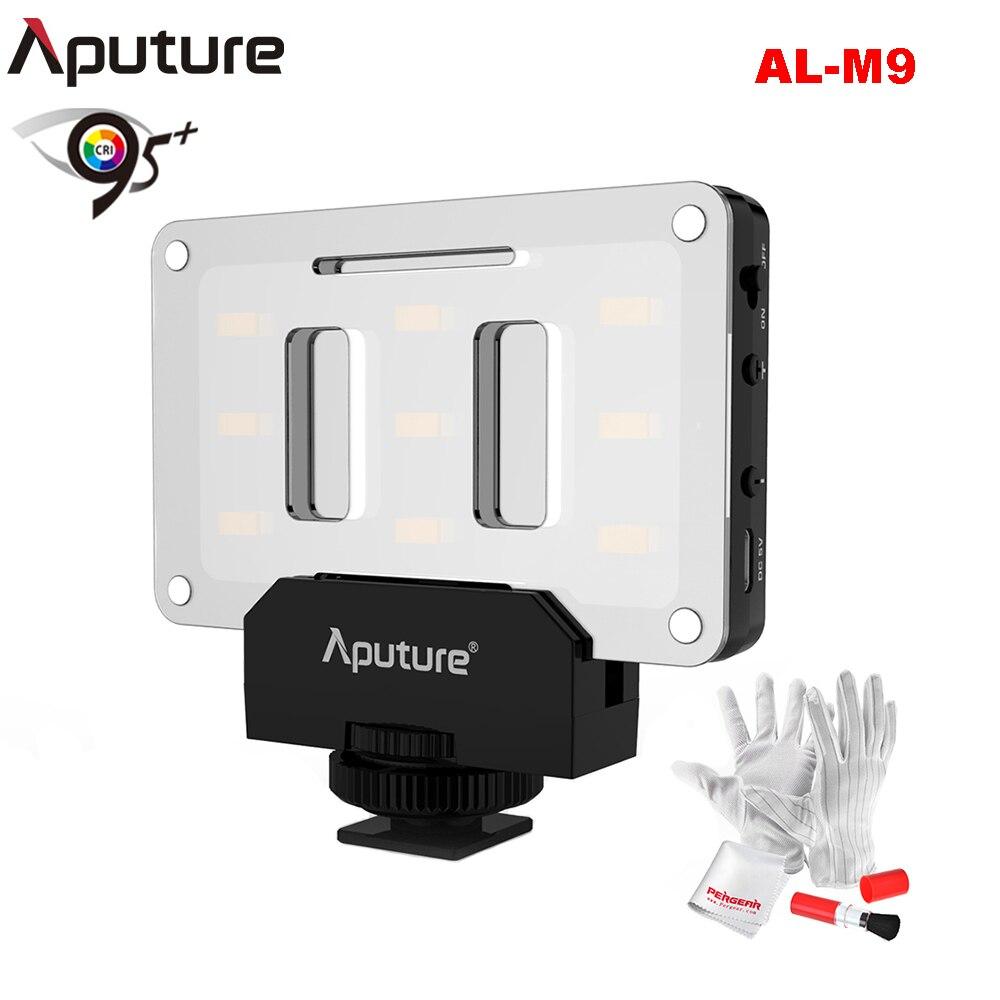 Aputure AL M9 LED Video Light with Filter Pockable TLCI CRI 95 on camera Fill Light