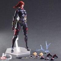 Disney Marvel Avengers Black Widow 28cm Action Figure Posture Model Anime Decoration Collection Figurine Toys model for children