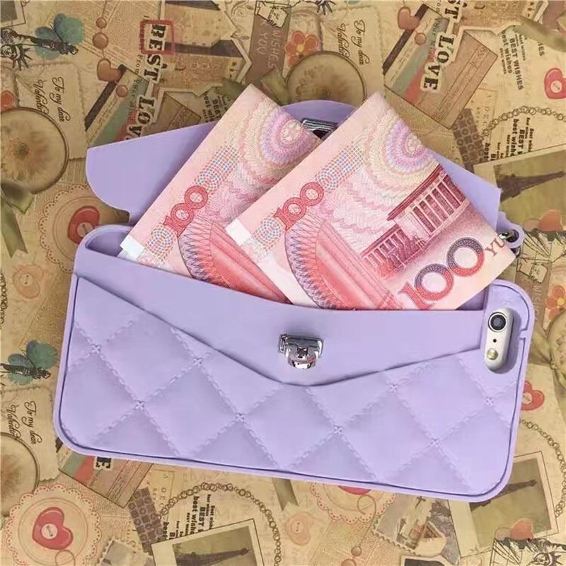 Luxus tragbare Handtasche weiches Silikon Telefonhülle für iPhone - Handy-Zubehör und Ersatzteile