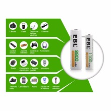 8pcs/lot EBL 2800mAh 1.2v AA Ni-Mh Rechargeable Battery for Flashlight MP3 Toy Cameras + Batteries box case free shipping