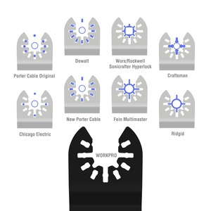Image 4 - WORKPRO 23PC Saw Blades Multi Tool Oscillating Saw Blades for Dremel Bosch Milwaukee Quick Release Saw Blades for Metal/wood