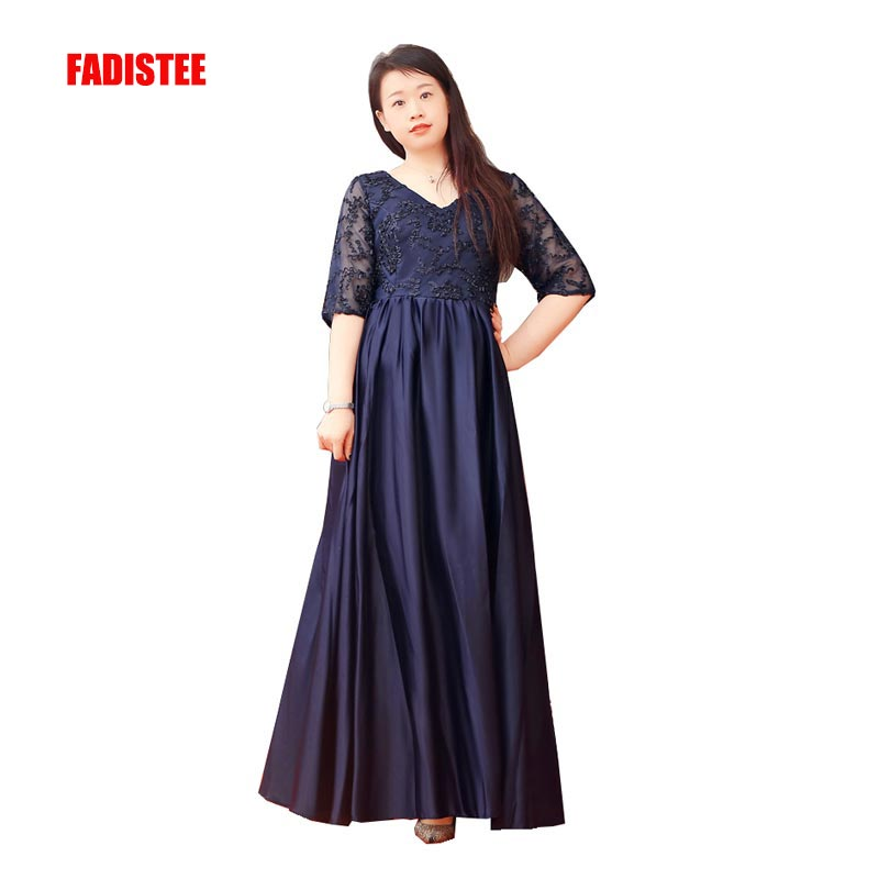 FADISTEE New arrival evening elegant prom dresses lace Wedding Party Dress plus Mother of the Bride Dresses with lace-up