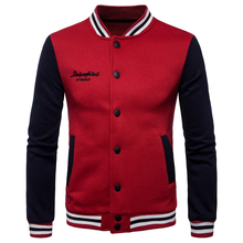 Fall Winter mens casual stand collar jacket coat 2017 new baseball suits personalized color buttons clothing jackets S-XXL
