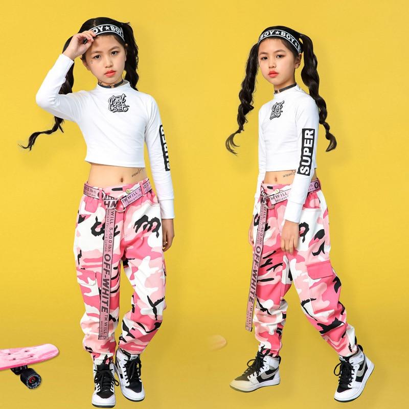 Girls Jazz Dance Costumes Hip Hop Pants Kids Street  Dance Clothing