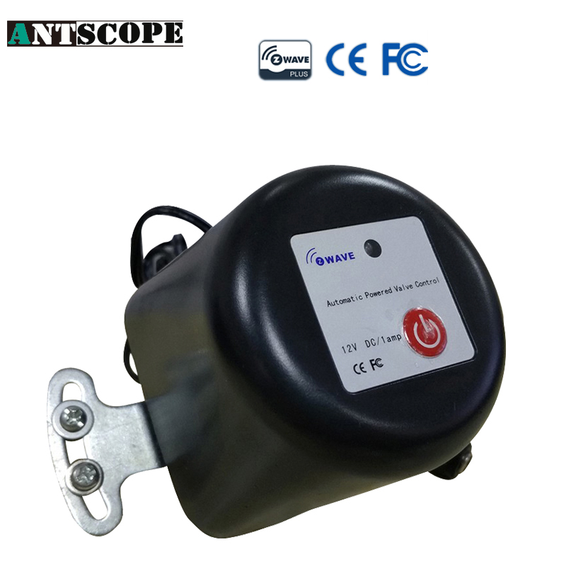 Antscope EU US Frewuency Z-Wave Intelligent auto valve Can Conpatible With All Zwave Devies Water Valve Switch Smart gas VALVE z wave plus gas water auto valve smart home automation controller work with water leak sensor alarm gas leakage sensor