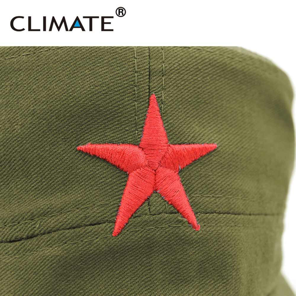 667601ee5361 ... CLIMATE Communist Cap Caps Hats Men Red Star Army Cap Party Men  International Brigades Flat Top ...