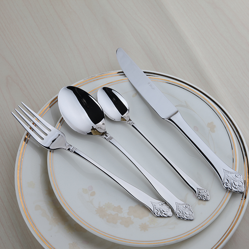 Cozy Zone 24 Pcs Cutlery Set Dinnerware Set Stainless Steel