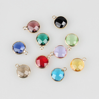 12pcs Lot Colorful Crystal Birthstones Charms Pendant 12MM For Glass Living Memory Locket DIY Accessories Free