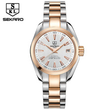 ae8c678a36d7 Sekaro 5076 women mechanical Wristwatches automatic ladies Watch top brand  luxury lady clock Rose Gold Scale