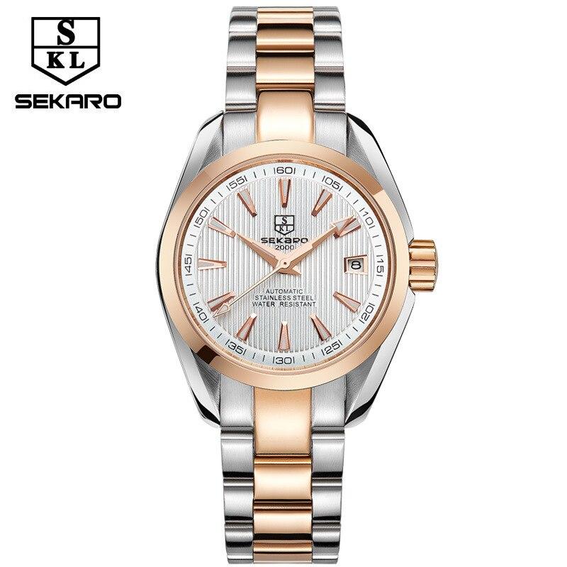 2017 new sekaro watch ladies automatic mechanical watch calendar 30m waterproof luxury fashion women watches