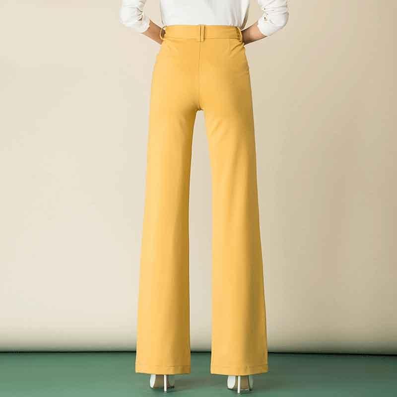 Damen elegante gerade lange Anzughose hohe Taille Office Lady OL - Damenbekleidung - Foto 6