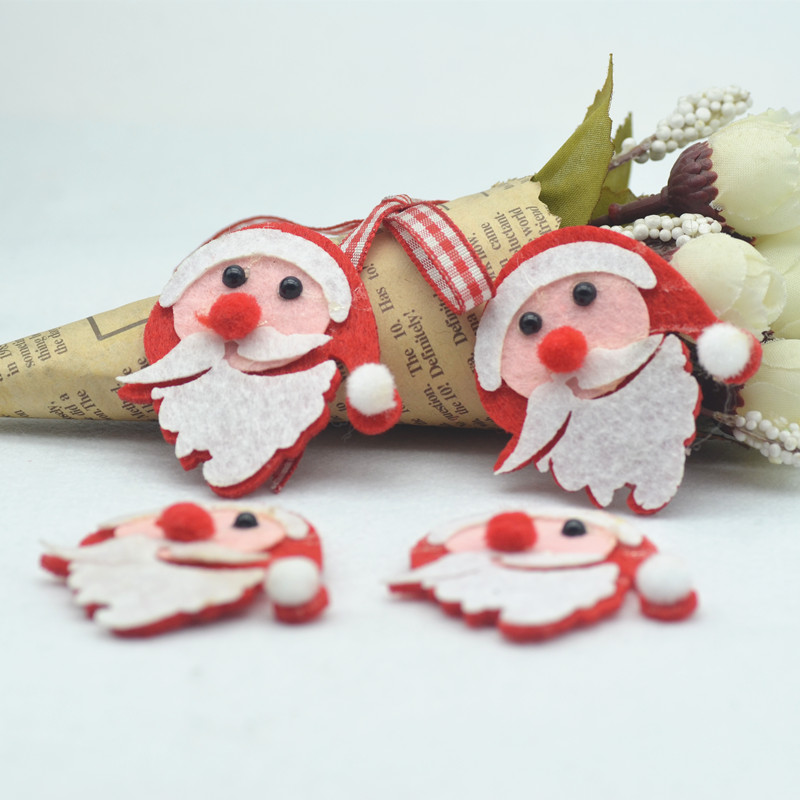 Father Christmas Images Free.Us 2 5 Christmas Embellishment Materials Father Christmas Diy Glass Show Room Decoration Free Shipping 20pcs Pack 50 45mm In Embellishments From