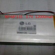 Размер 9068135 3,7 V 12000mAh литий-полимерный аккумулятор с защитной платой для планшетных ПК