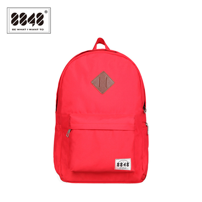 8848 Brand Backpack Women Backpacking Shoe Pocket Female Backpack School Bag Fashion Red Traveling 2017 New