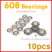 10Pcs Super Fast Skate 608 Ball Bearing For Metal Led Light Glow In Dark Batman Game