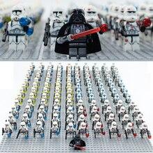 21 шт. Звездные войны Штурмовик клон Commander Trooper& Darth игрушки с Вейдером фигурка совместима legoeinglys 75021 строительные блоки игрушки