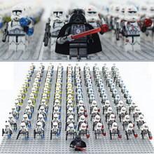 21pcs/lot STAR WARS Clone Commander Trooper & Darth Vader Mini toys figure compatible legoingly 75021 building block toys(China)