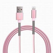 Металлическая пружина синхронизации данных зарядный Micro USB кабель для Samsung Xiaomi Huawei телефона Android Зарядное устройство Кабели для iPhone 7 плюс 6 5S
