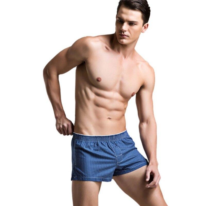 2017 Burst New Polyester-Cotton Low Waist Lattice Mens Flat Underwear Home Pajamas Pants Cool Trunks Six Colors new W1