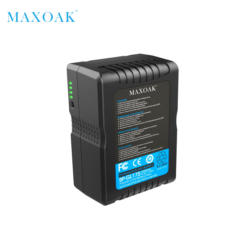 MAXOAK 177Wh V177 V Mount Batteria 12000 mAh/14.8 V Li-Ion Batteria V-Mount V-Lock Video Fotocamera e Videocamera