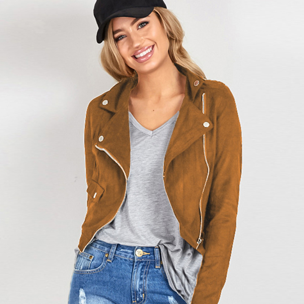 Popular Womens Brown Leather Bomber Jacket-Buy Cheap Womens Brown