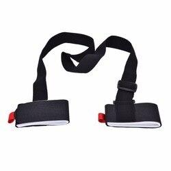 Durable Snowboard Bag Adjustable Nounting Ski Pole Shoulder Hand Carrier Lash Handle Straps Porter Hook Loop