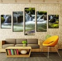 No frame 5 pz Moderna pittura a olio di arte Inverno Sunset at sea home decoration Wall Art Immagine stampata per soggiorno CFARA052