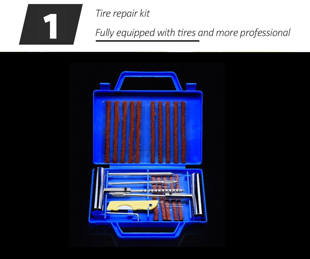 11Pcs Car Van Motorcycle Bike Emergency Heavy Duty Tubeless Tire Puncture Repair Kit Plug Set Tyre Repair Kit(Knife Random Color11Pcs Car Van Motorcycle Bike Emergency Heavy Duty Tubeless Tire Puncture Repair Kit Plug Set Tyre Repair Kit(Knife Random Color