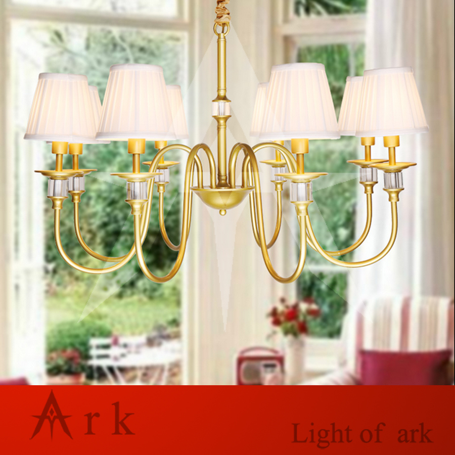 ARK LIGHT Vintage Rural style  pendant light american GOLD iron led pendant light cottage dining room  living room study room