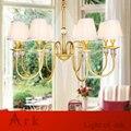 LUZ ARCA Rural estilo pingente de luz americano Do Vintage de ferro OURO levou luz pingente de casa sala de jantar sala de estar sala de estudo