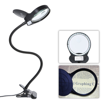 LED Light desk Magnifier Magnifying Glass with Light Lens Table Desk type Lamp Handheld Foldable Loupe 3x 10x 6000 7000K