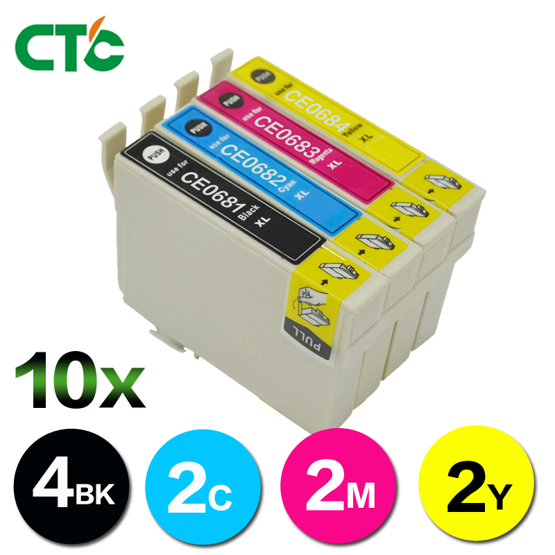 10X Ink Compatible For 69 68 T0681 T0684 T0691 T0694 WorkForce NX305 NX400 NX415 NX510 NX515