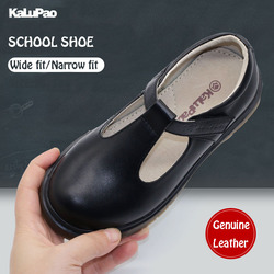 2019 School Issue Shoe Primary Ankle T-strap Fashion Princess Slip-on Children Sneaker Leather Shoes For Girls Shoes Size 28-39