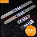 O envio gratuito de LED de Aço Inoxidável do Peitoril Da Porta Da Placa do Scuff Para Mazda Demio 2 2007 2008 2009 2010 2011 2012 emblemas