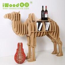 Nordic Искусство Ремесла украшения Верблюда Континентальный моделирование деревянный творческий дом мебель Деревянные Полки бесплатная доставка