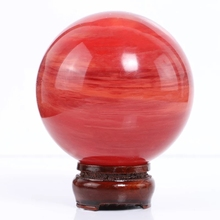 100mm Asia red quartz ball high quality feng shui home decoration preferred