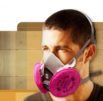 Venta como las tortas calientes de polvo del respirador maskIIIM6200 sílice gris máscara de polvo con P100 filtro de algodón contra PM2.5 anti polvo del respirador