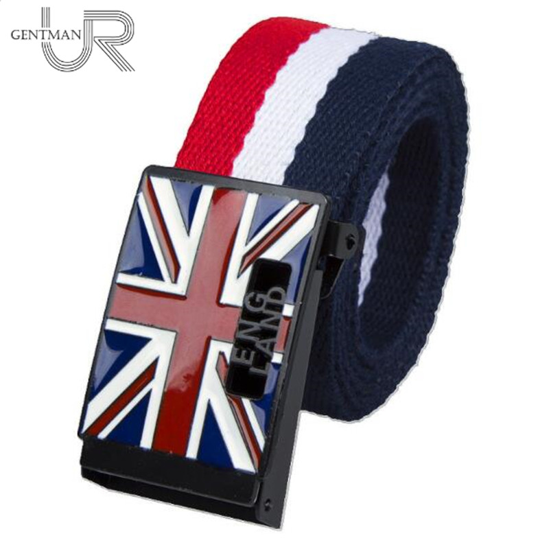 New High Quality Canvas Belts For Men And Women Casual Man Luxury Belts Fashion England Style Jeans Straps