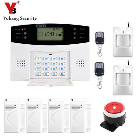 YoBang Security 433MHZ Metallic Remote Control Wireless GSM Home Security Alarm System Russian Spanish-English Voice Alarm 433mhz wifi gsm alarm english spanish russian language voice home alarm security system with 2pcs wireless signal repeater
