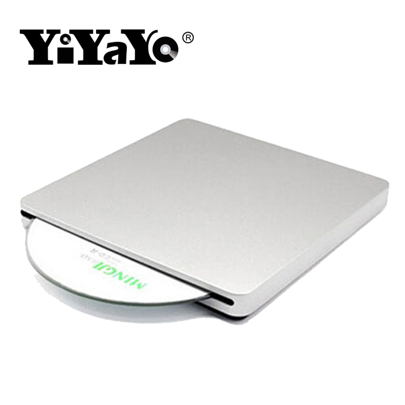 YiYaYo USB2.0 External Optical Drive CD/DVD-RW Slot-in Burner 8X CD/DVD DVD-ROM Slim Portable for Windows 7/8/10 Mac+Drive bag