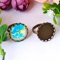 20 мм 10 шт Античная бронзовая латунная кружевная медные оправы для колец основа для кабошона камеи медное кольцо высокого качества новое