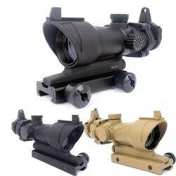 Тактический Прицел ACOG 1X32 с красной точкой, Оптический Прицел ACOG с красной точкой, охотничий прицел с рейкой 20 мм для страйкбола, пистолет