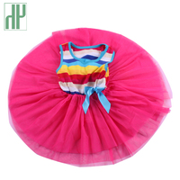2 5 Years Baby Dress Stripe Sleeveless Rainbow Girls Clothing Infant Princess Dress Summer Kids Dresses
