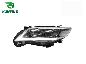 Pair Of Car Headlight Assembly For TOYOTA COROLLA 2011- Tuning Headlight Lamp Parts Daytime Running Light Bi Xenon project lens