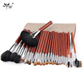 Top Quality Makeup Brush Set Professional 26 pcs Copper Ferrule Makeup brushes For Make Up Cosmetic Brush Tool Kit With Bag