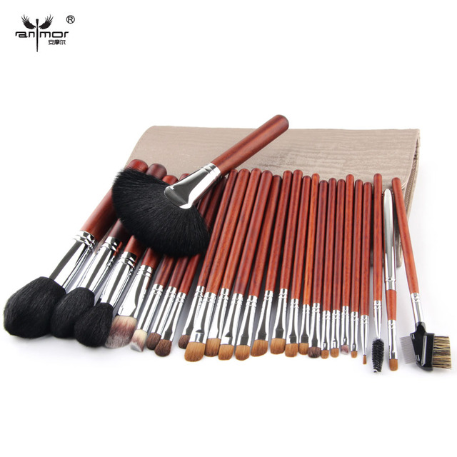 Top Quality Makeup Brush Set Professional 26 pcs Copper Ferrule Makeup brushes For Make Up Cosmetic Brush Tool Kit With Bag Q01