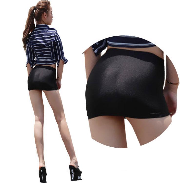 Hot Sexy Oil Shiny Mini Skirt Tight Pencil Skirts Super Night Club Micro Mini Skirt Fantasy Erotic Wear F15
