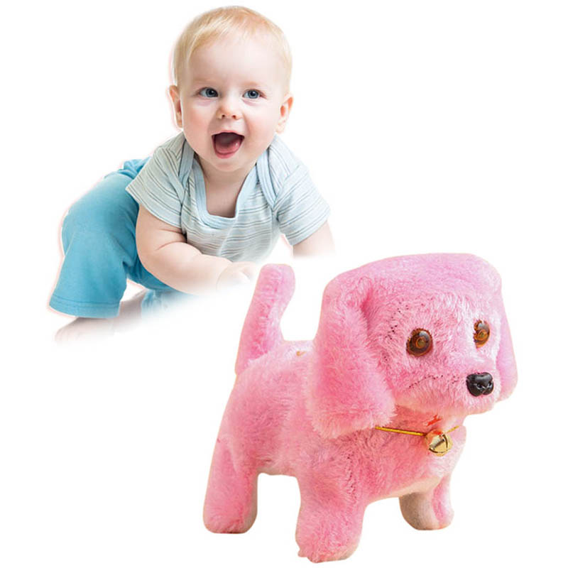 Hot Selling Children Plush Electronic Dog Toy Robot Pets Walking Dog Toys Gift For Kids Birthday